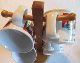 Campbell's Soup, Mmm Mmm Good, Set of Mugs with Stand, Bowls with Handles, vintage kitchen