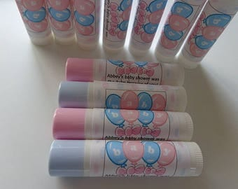 20 Baby Shower Lip Balm Favors, Party Favors, Lip Balms, Babies, Showers
