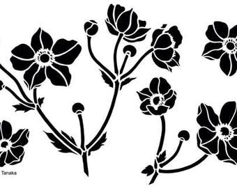 Designs by Ryn - Stencil - Japanese Anemone S-6