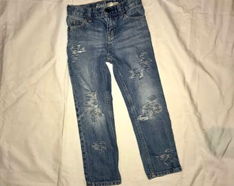 5R Boys Light Wash Ripped Jeans