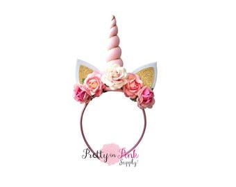 Pink Unicorn DIY Headband Kit #454-  D.I.Y Kit- Unicorn Headband- Kit- Rainbow Headband- Magical Unicorn Headband