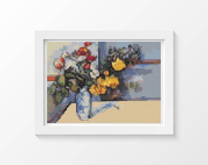Mini Cross Stitch Kit, Embroidery Kit, Art Cross Stitch, Still Life by Paul Cezanne (TAS133)