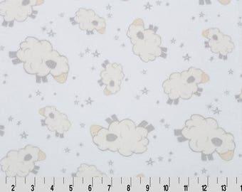 Personalized Minky Baby Blanket - Ivory Baa Minky - Minky Dimple Dot - Custom Baby Blanket - Monogrammed Blanket - Sheep Baby Blanket