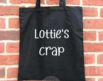 Personalised baby crap tote bag, great baby shower gift or mother's day gift for a mummy to be. Funny baby tote, new baby gift
