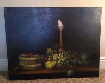 "REDUCED!! Collectible: ""Abundance of Fruit"" by the Artist, Fioravanti / 1970's Oil Painting / 449.00 or Best Offer!!"