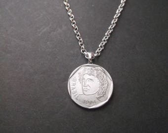 Brasil 25 Coin Necklace -Brasil Coin Pendant