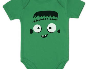 Cute Monster Face Halloween Costume Baby Bodysuit