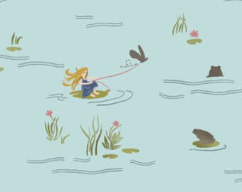 Baby Bedding Crib Bedding - Thumbelina, Frog, Pond, Aqua, Blue - Baby Blanket, Crib Sheet, Crib Skirt, Changing Pad Cover, Boppy Cover