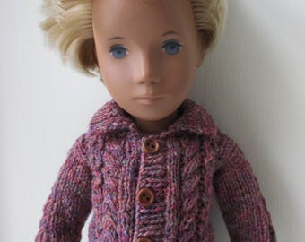 Knitting Pattern for Cable Knit Jacket for Sasha or Gregor Doll