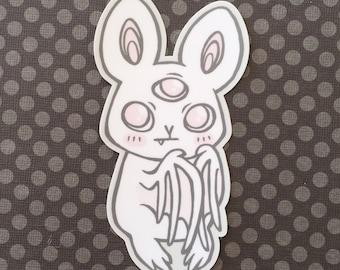 THREE-EYED BATKINS — vinyl sticker