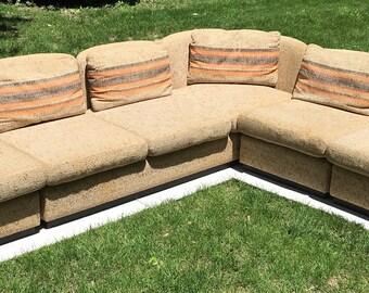 Mid Century Scandinavian Modular Sofa Sectional