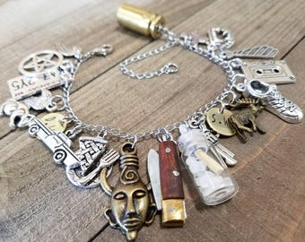 Supernatural charm bracelet - supernatural bracelet - ghost hunter - supernatural jewelry - charm bracelet - cosplay - supernatural gifts