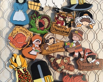 Thanksgiving wooden pieces for crafting and decorating
