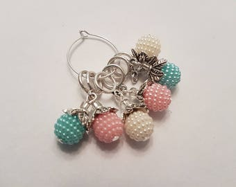 Sweet berry stitch markers