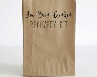 Bachelorette Party Favor Bags, Recovery Kit Bag, Hangover Kit Bag, Hangover Survival Kit, Bachelorette Party Hangover Kit, Recovery Bag
