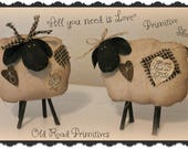 Primitive Sheep Pattern All you need is Love Sheep PDF Pattern Sewing Pattern