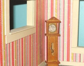 SWEET HEART SALE 30% off Miniature dollhouse vintage wooden grandfather clock