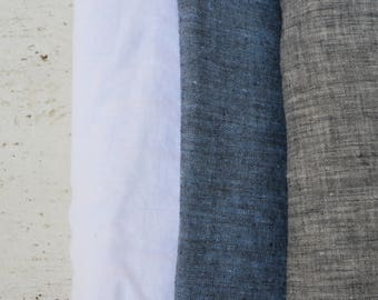 100% linen | Europe linen | Pure linen | Eco friendly | Baby linen | Denim blue flax | Organic fabric | Eco linen | Prewashed linen