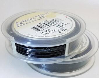 BLACK 15yards, 22Ga ARTISTIC WIRE® wire craft, Non-Tarnish Brass Wire