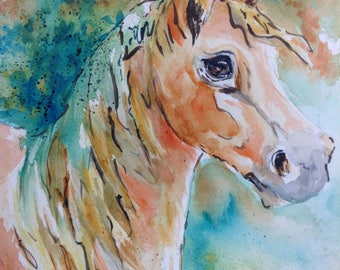 Beautiful Horse, watercolor