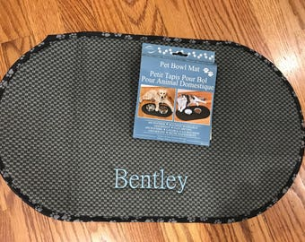 Personalized pet bowl mat