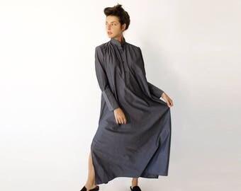 Grey Kaftan Dress, High Neck Dress, Maxi Dress, Plus Size Clothing, Fall Dress, Caftan Dress, Plus Size Dress, Grey Maxi Dress, Grey Dress