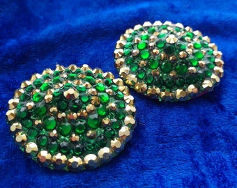 SALE! Green and gold burlesque pasties