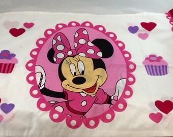 Vintage Disney Minnie Mouse Pillowcase