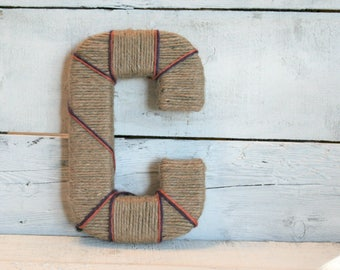 Yarn Wrapped Letters | Jute Wrapped Letters | Custom Wrapped Letters | Clemson Wrapped Letters | Wreath Letter