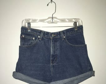 Vintage Ralph Lauren High Waisted Repurposed Jean Shorts