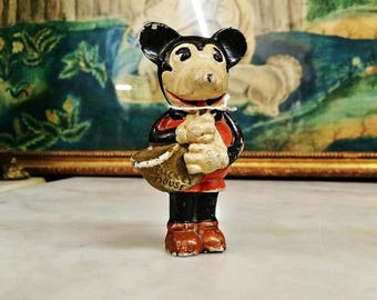 ViNTAGE 1938 SAXOPHONE PLAYING MiCKEY MOUSE BiSQUE PiE Eyed FiGURINE, DiSNEYANIA CoLLECTIBLE, Made in JaPAN PoRCELAIN MickEY FiGurine, Toys