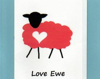 Note Card / Love Ewe