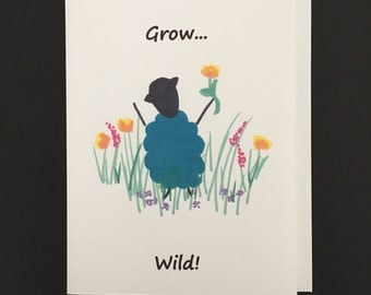 """Note Card /  """"Wild Flowers"""""""