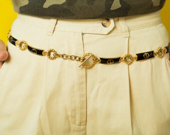 Vintage 1980's Gucci Chain Link Belt