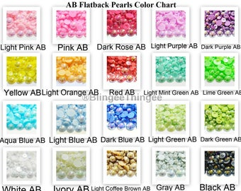 Choose Color 25 14mm AB Flatback Faux Half Round Imitation Pearls Scrapbooking Embellishments Diy Deco Kit Kawaii Cabochons Craft Supplies