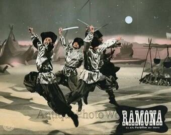 Georgian sabre dancers German movie still Ramona 1961