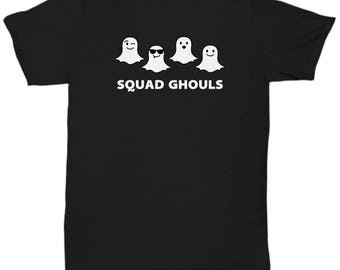 Halloween Costume Squad Ghouls Funny Gift Shirt Snapchat Ghosts Goals