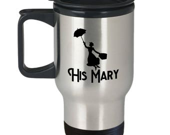 Disney His Mary Poppins Gift Travel Mug Her Bert Jolly Holiday Coffee Cup Couple Love Gifts