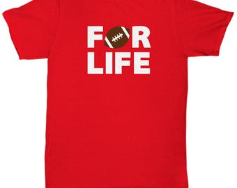 NFL Football For Life Funny Mug Gift for Sports fan Quarterback Touchdown Coffee Cup
