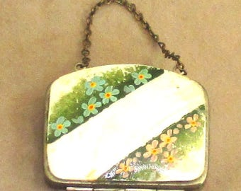 Child's Purse mother/pearl front & rear decorated