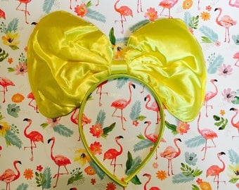 Cute Jumbo Yellow Minnie Mouse Bow inspired Headband