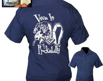 Rockabilly Work Shirt / Rockabilly Shirt / Kustom Kulture Shirt / Rocker Shirt /  Mechanic Shirt