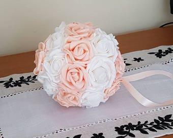 "7"" Wedding Pomanders, Wedding Flower Balls, Flower Girl Kissing Ball,  Bouquet Alternative"