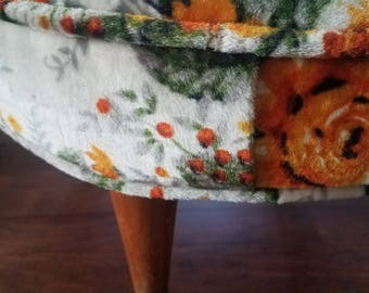 Vintage Flowered Foot Stool