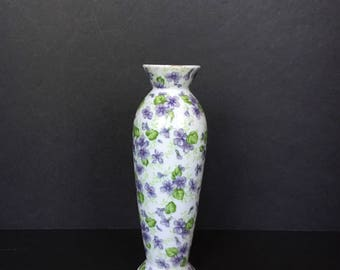 Lefton China Vase Violets