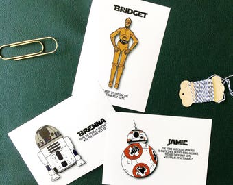 Droid Be My Groomsman/Bridesmaid Droid Cards {Star Wars Theme}