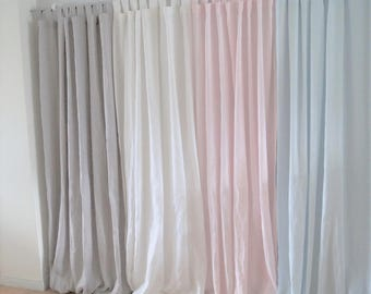 Linen curtain panel, blackout lining, linen window panel, linen drapery, blackout linen curtains