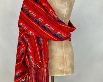 RED CAMBAYA REBOZO shawl baby wrap
