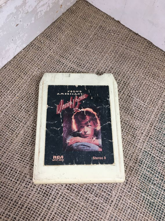 David Bowie 8 track tape, 1975 David Bowie, Young Americans, Can You Hear Me, Fame, Fascination,Across The Universe, Money back guarantee