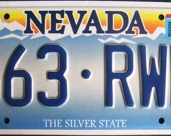 NEVADA 663RWE American License Number Plate